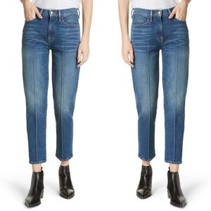 Frame   Le High Pintucked Straight Jeans